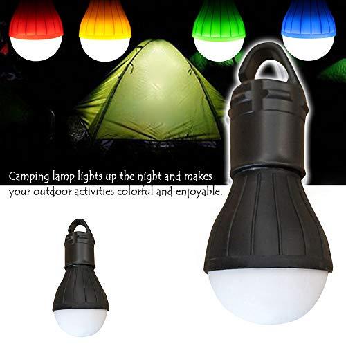 LED Camping Lamp, 2Pcs Outdoor Emergency LED Lamp Camping Tent Fishing Lantern Hanging Light (Black)