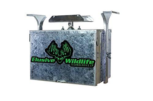 Elusive Wildlife Premium 12 Volt Feeder Control System - Box and Motor Only - Galvanized by Elusive Wildlife