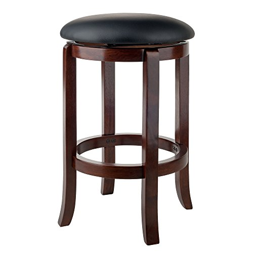 "Winsome Wood 94164 Walcott Swivel Bar Stool, 24"", Walnut"