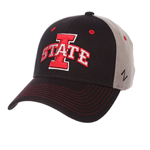 Zephyr NCAA Iowa State Cyclones Men's Duo Hat, X-Large, Black/Gray