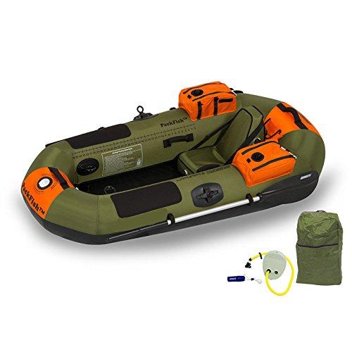 oldzon PackFish7 デラックス フレームレス インフレータブル アングラー カヤック フィッシングボート グリーン Eブック付き   B07FBC56SC