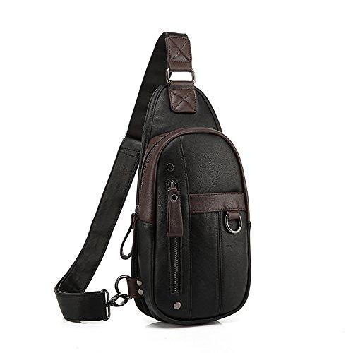 pequeño cofre Pack de los hombres/bolso de hombro de los hombres/mochila ciclismo de ocio Coreano/Bolso de hombre de pecho de deportes al aire libre-A A