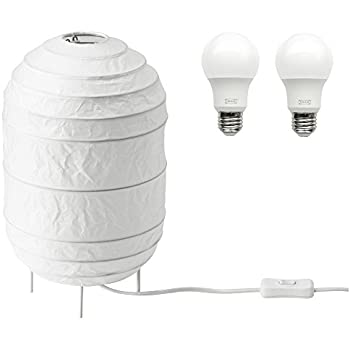 Ikea Storuman Paper Floor Lamp With 600 Lumen Led Light