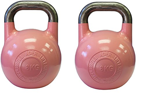 Ader Pro-Grade International Kettlebell Set- (8kg) Set of 2 by Ader Sporting Goods