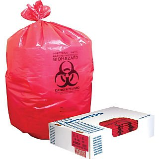 Heritage® Healthcare Biohazard Can Liners; 33-Gallon, 150/Carton