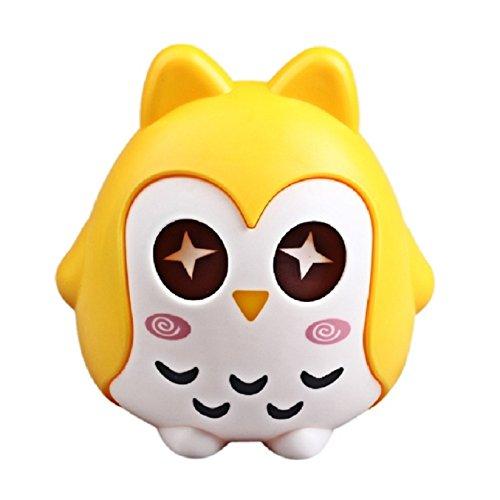 Fullkang Kids Cute Owl Shape Piggy Bank Coin Money Box Saving Pot Decoration Gift (Yellow) (Coin Owl Set)