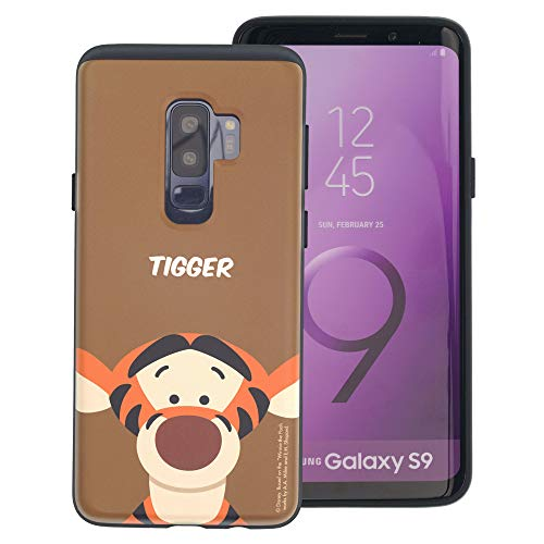 Galaxy S9 Case Disney Cute Layered Hybrid [TPU + PC] Shock Absorption Bumper Cover for [ Galaxy S9 (5.8inch) ] Case - Baby Face -