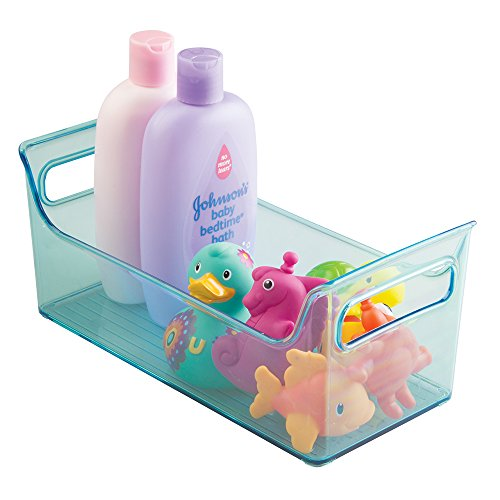 mDesign Kids/Baby Bathroom Shower Caddy Tote for Bath Toys,