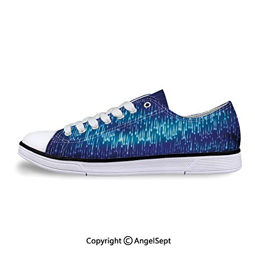 Sneaker Abstract Cosmic Rain with Lights Flat Canvas Shoes for Womens Cosmic Flat Back Rhinestones