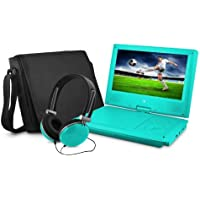Ematic EPD909TL 9-Inch Portable DVD Player with Matching Headphones and Bag (Teal) Color: Teal