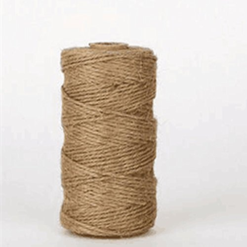 Eco Christmas Decorations - 328 Feet Natural Jute Twine Arts Crafts Cord Durable Eco-Rope Scrapbooking Christmas Gifts Wrapping Gardening (1PC)
