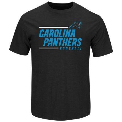 Carolina Panthers Men's Athletic Black Line of Scrimmage T-Shirt - Large