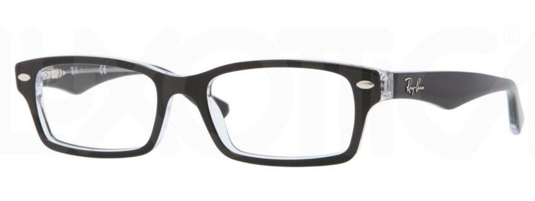 Ray Ban Junior RY1530 Eyeglasses-3529 Top Black on Transparent-48mm