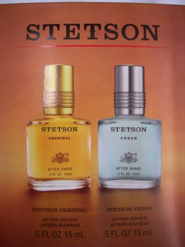 STETSON By Coty Original and Fresh Aftershave .5fl oz bottles in gift set (Stetson Gift Set)