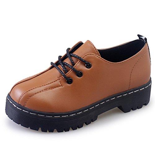 La versión coreana de la estudiante de cabeza redonda de zapatos de moda en primavera/Zapatos de Joker/Zapatos del ocio C