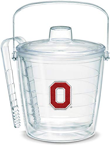 - Tervis 1053456 Ohio State Buckeyes Block O Ice Bucket with Emblem and Clear Lid 87oz Ice Bucket, Clear