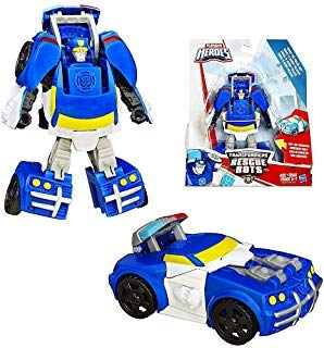 Transformers Chase The Police Bot to Police Car Rescue Heroes 4.5