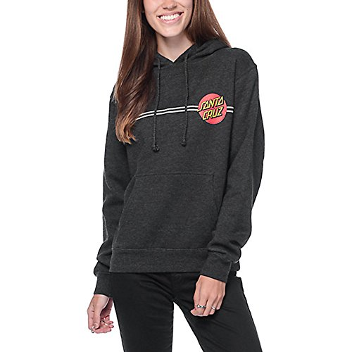 Dot Hoodie - Santa Cruz Girls Classic Dot Hoody Zip Sweatshirt Medium Charcoal Heather
