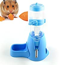 125ml Pet Drinking Bottle with Food Container Base Hanging Water Feeding Bottles Auto Dispenser for Hamsters Rats Small Animals Ferrets Rabbits Small Animals