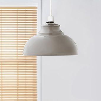 Oslo metálico colgante lámpara de techo Easy Fit - gris ...