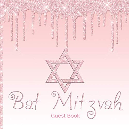 Bat Mitzvah Guest Book: Fun Contemporary Guestbook Celebrate Coming of Age Party for Jewish Girls Hand Drawn Designs Selfies Gift Log Message Pages]()