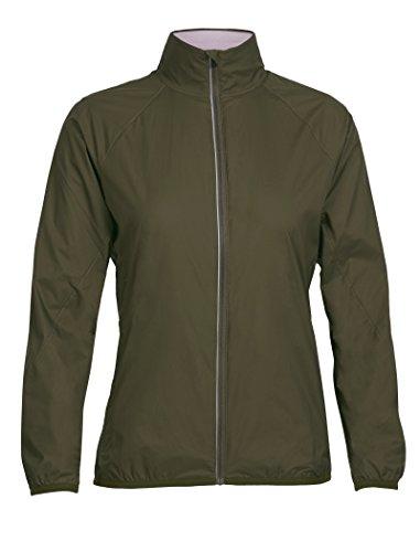 Icebreaker Pocket - Icebreaker Merino Women's Rush Windbreaker Jacket, Kona/Glow, Large