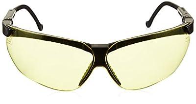 Uvex S3202X Genesis Safety Eyewear, Black Frame, Amber UV Extreme Anti-Fog Lens