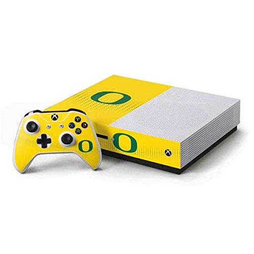 (University of Oregon Xbox One S Console and Controller Bundle Skin - Oregon Mesh Yellow | Schools & Skinit Skin)
