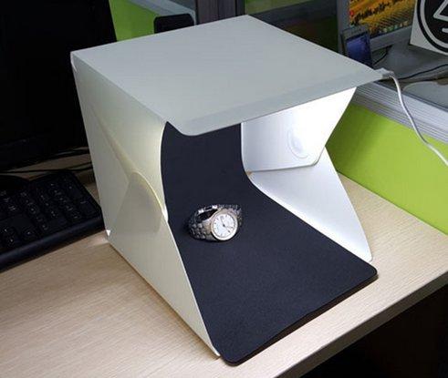 Port/átil plegable estudio de fotograf/ía luz kit de estudio con super brillante luz LED mini llev/ó luz de estudio tienda luz