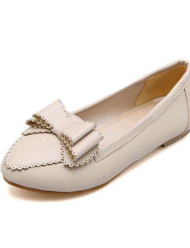 Toe Pisos piel plano punta us7 5 oficina al uk5 negro white aire vestido sintética talón PDX y libre de carrera cn38 rosa de 5 casual blanco mujer zapatos eu38 0gpw8nqIvz