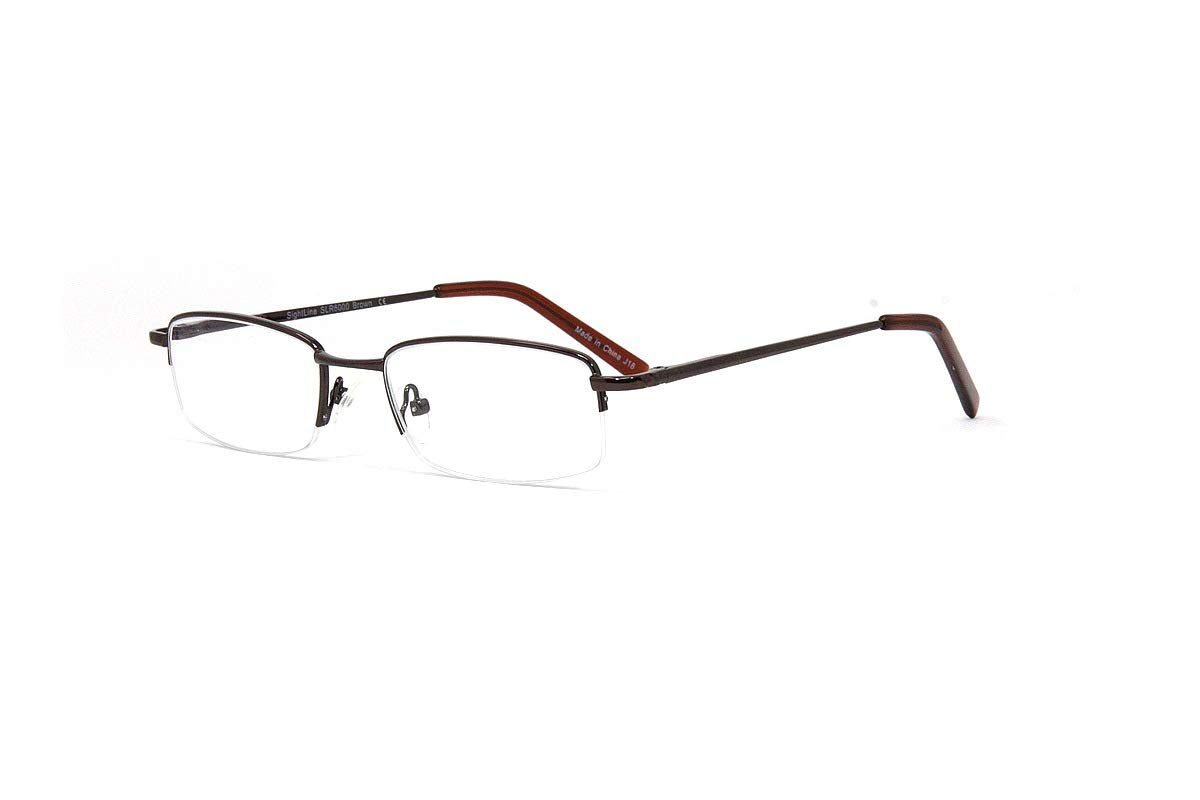 2b54f6a218fb Amazon.com: SightLine Multifocal Computer Reading Glasses 6000 Semi-Rimless  Designer Frames (2.50, Gunmetal): Health & Personal Care