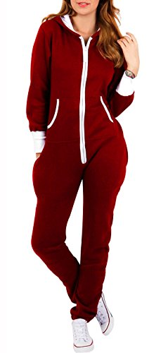 b5550816d05 SKYLINEWEARS Women s Ladies Onesie Hoodie Jumpsuit Playsuit Medium ...
