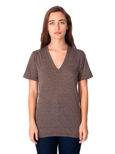 (American Apparel Triblend Short-Sleeve V-Neck T-shirt (TR461) -TRI COFFEE -2XL )