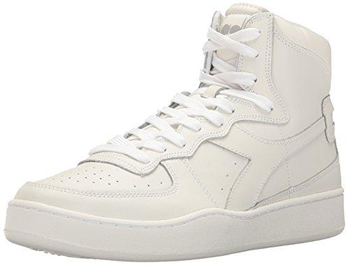Diadora Men's MI Basket Skate Shoe, White/White, 12 M US MI BASKET-M