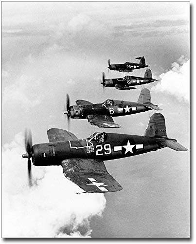 Vought F4U-1A Corsair Fighters in Flight 8x10 Silver Halide Photo Print