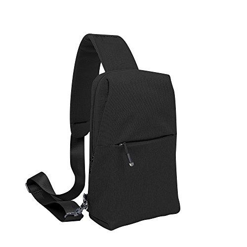 Sling Bag, Sling Backpack Outdoor Crossbody Chest Pack Bag Multipurpose Daypack (Black)