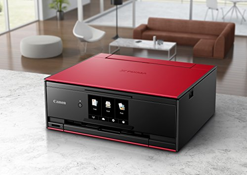 Canon TS9120 All-In-One Copier: Mobile Printing, with Airprint Google compatible, Red