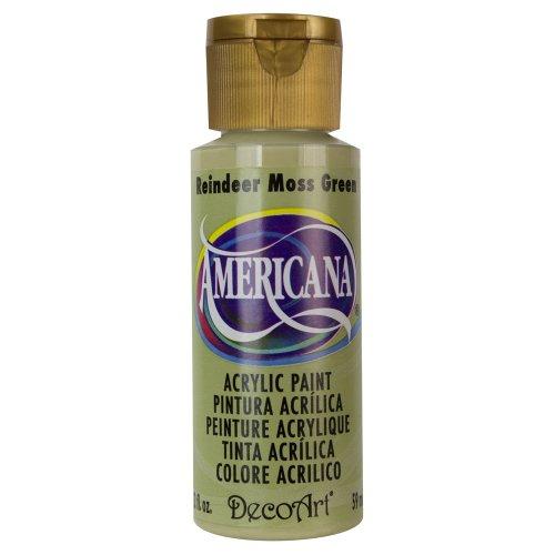 DecoArt Americana Acrylic Paint, 2-Ounce, Reindeer Moss Gree