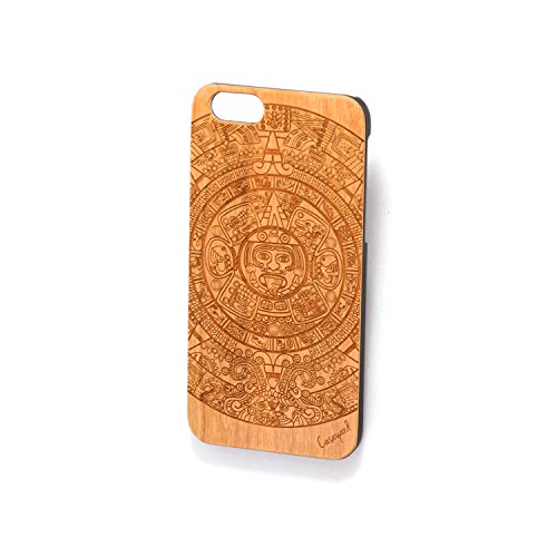 Custom Engraved Aztec Calendar Wood Case for iPhone 5/5s, iPhone 6/6s and iPhone 6 Plus / 6s Plus (iPhone 6/6s)