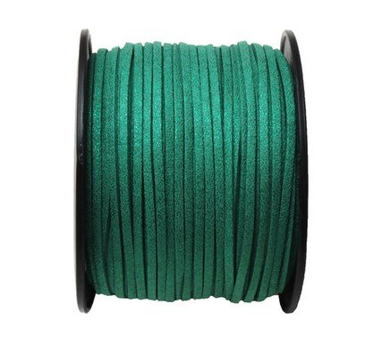 UnCommon Artistry Metallic Emerald Faux Leather Suede Necklace Cord 10 Feet Ultra Microfiber ()