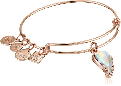 Alex and Ani Charity by Design, Crystal Wing EWB Cuff Bracelet, Shiny Rose, Expandable