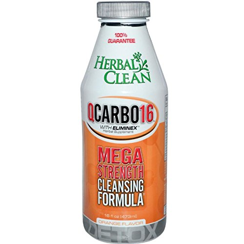 5 Pack - Herbal Clean Detox Qcarbo16 Orange Flavor 16 Fl Oz with Free Im Baked Bro and Doob Tubes Sticker by Herbal Clean