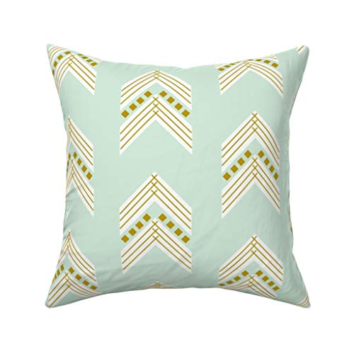 winter woodland home decor the collection.htm amazon com roostery throw pillow  arrows geometric woodland mint  amazon com roostery throw pillow