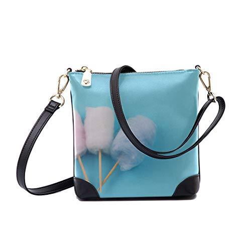 Shoulder Bag Pastel Color Cotton Candy Miniature For Women Bucket Crossbody