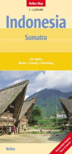 Nelles Maps Indonesia : Sumatra (Landkarte) 1 : 1 500 000. City Maps: Medan, Padang, Palembang