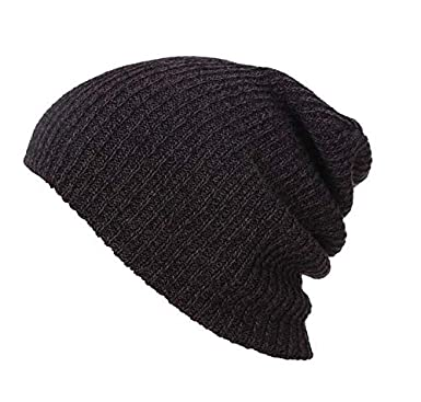 1c1c99e5 Black Cotton Beanie & Bobble Hat For Men: Amazon.ae: kkbuy