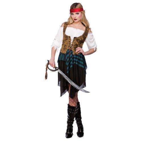 Pirates Caribbean Costumes Uk (Wicked Costumes Caribbean Pirate Girl Hen Night Fancy Dress Costume Xl)