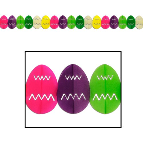 Easter Egg Garland Party Accessory (1 count) (1/Pkg)]()