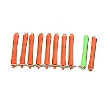 Goma elástica eDealMax 10pcs 1.2cm Dia Verde Naranja Magic Hair Care rizador de n-