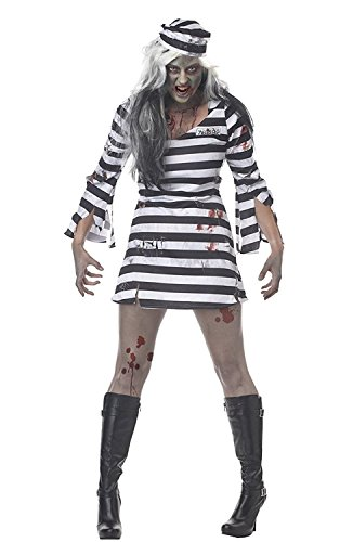 Halloween Women's Theater and Reenactment Costumes (XL) (Sexy Inmate Costumes)